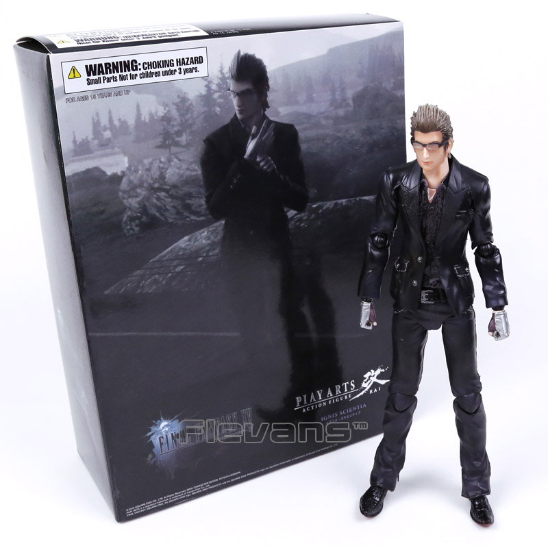 цена на Play Arts KAI Final Fantasy XV Ignis Scientia PVC Action Figure Collectible Model Toy 26cm