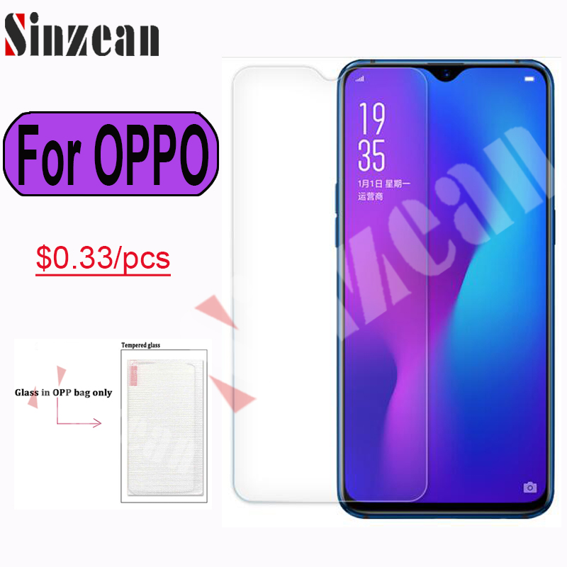 Buy Sinzean 100pcs For OPPO Reno/Find X/R19/RX17 Pro 2.5D tempered glass For OPPO Redalme 2/U1/R15X/R11S Plus/A7X screen protector for only 34 USD