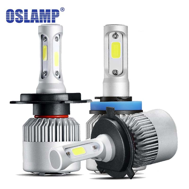 Oslamp Auto H7 H11 9005 9006 H13 9004 9007 H1 H3 9012 LED Headlight Bulbs COB 72W 8000LM 6500k Car Led Headlamp Bulbs Light h4 h7 h11 h1 h13 h3 9004 9005 9006 9007 9012 cob led car headlight bulb hi lo beam 72w 8000lm 6500k auto headlamp 12v 24v%2