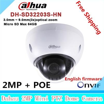 Original dahua DH-SD32203S-HN 2 Megapixel Full HD Network Mini PTZ Dome Camera SD32203S-HN dahua full hd 30x ptz dome camera 1080p