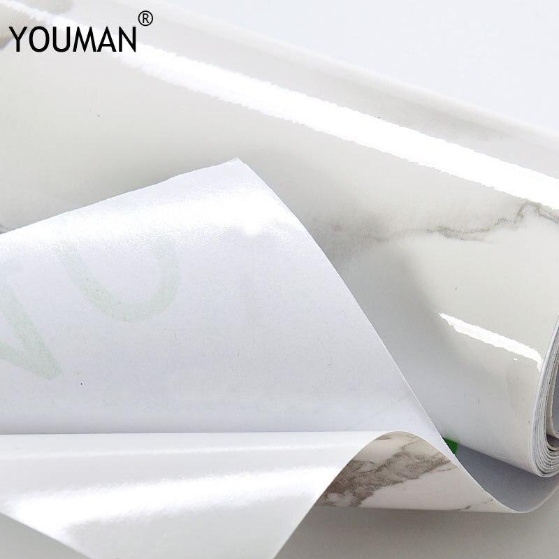 100% QualitäT Tapeten Youman Diy Selbst Klebe Pvc Vinyl Tapeten Marmor Tapete Wasserdicht Tapete Küche Schrank Wand Papier Verpackung Der Nominierten Marke
