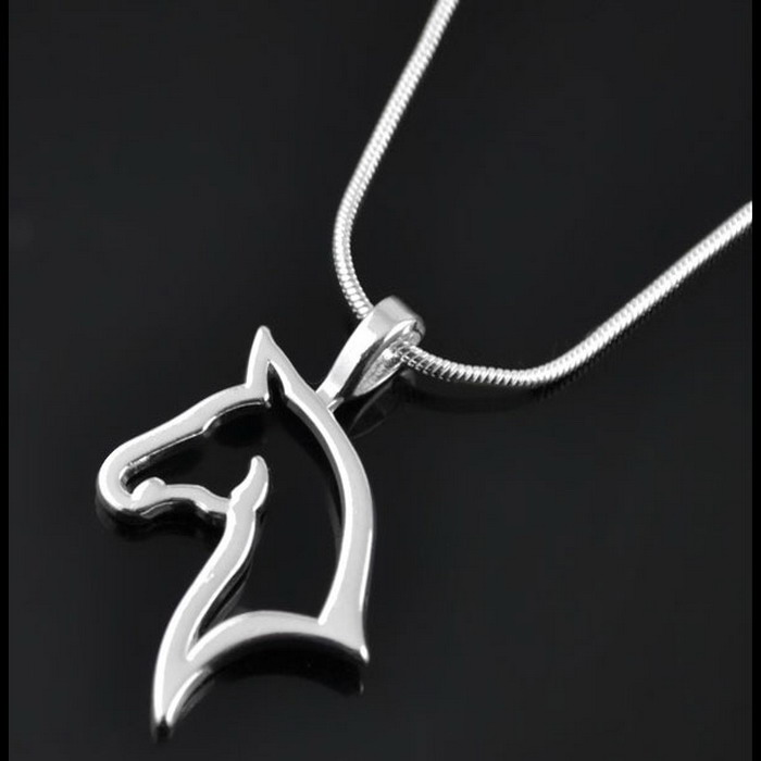 fashion cute animal horse Pendant Necklace For Women fashion dress Clothing Costume Jewelry Accessories