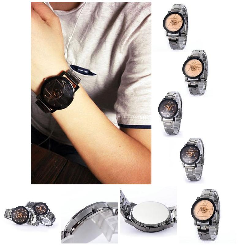 Lovers Watches Fashion Stainless Steel Band Wrist Quartz Watch Men & Women Retro Analog Wristwatch For Couple Birthday Gift  LL