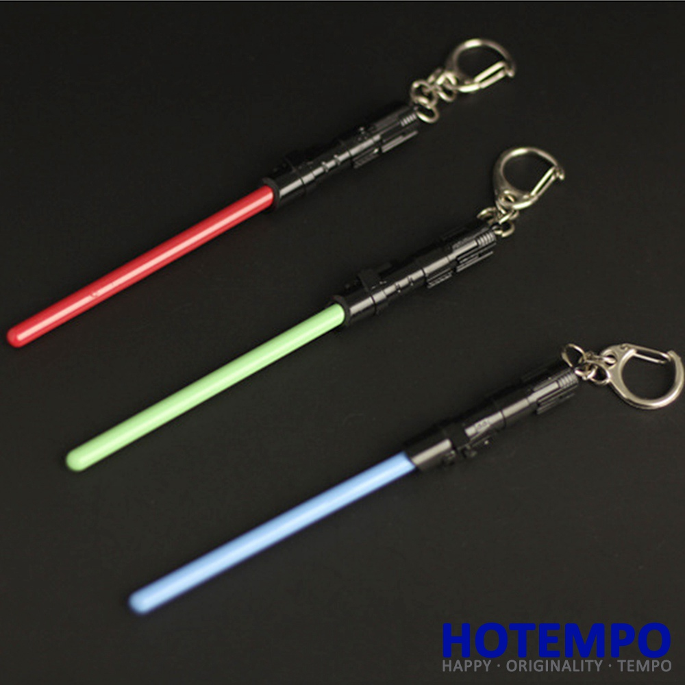 Hotempo Star Wars Lightsaber Weapons Keychain Stick Cosplay Toy Action Figure Keychains Key Covers Kidss Best Gifts