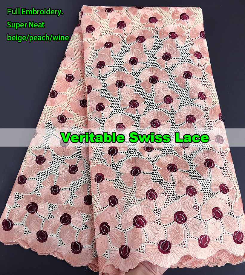 Full embroidery Veritable African Swiss voile lace fabric in Switzerland Excellent Latest Nigerian fabrics High Quality 5 yardsFull embroidery Veritable African Swiss voile lace fabric in Switzerland Excellent Latest Nigerian fabrics High Quality 5 yards