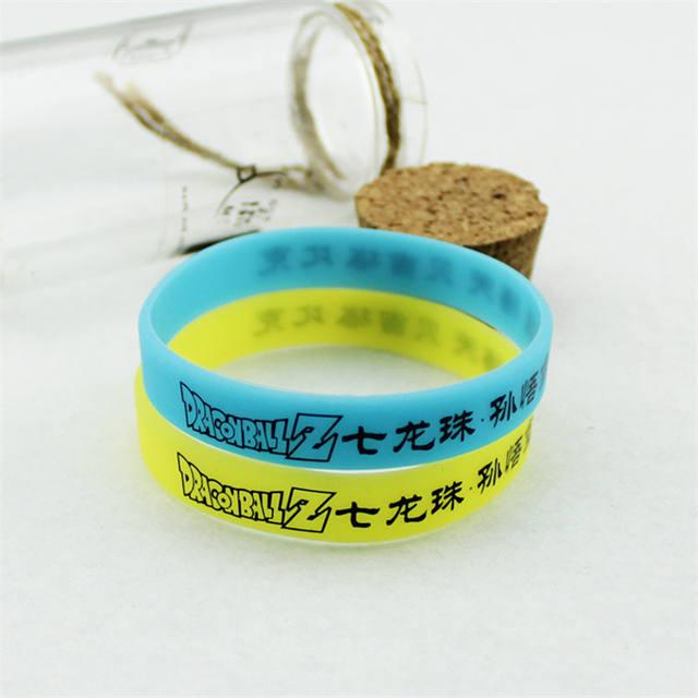 2 Colors Anime Dragon Ball Silicone Bracelet