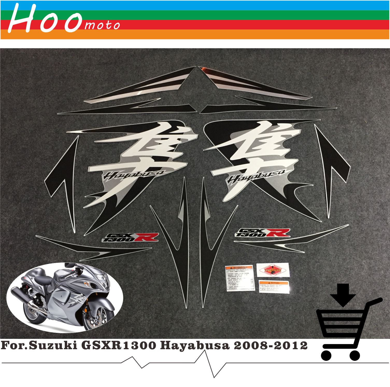 Мотоцикл весь наклейки на автомобиль и надписи DIY MOTO для Suzuki GSXR1300 GSXR 1300 GSX R 1300 Hayabusa 2008-2012 наклейки этикетки