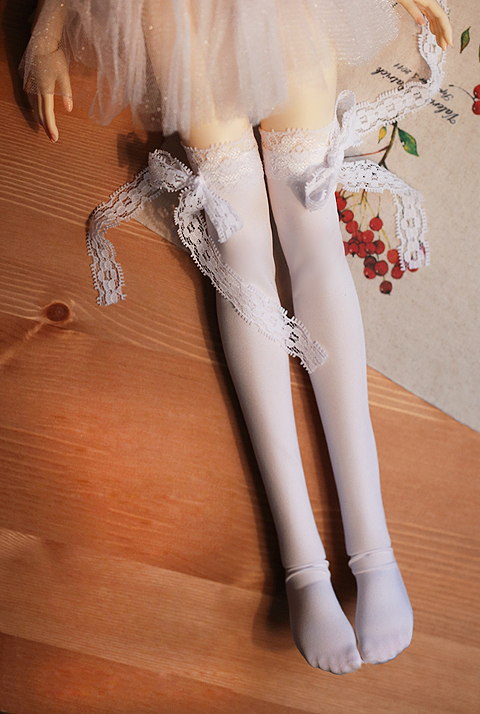 1pair Zebra Striped Doll Stockings Elastic Thigh High Long Sock For 1:6 Doll Toy