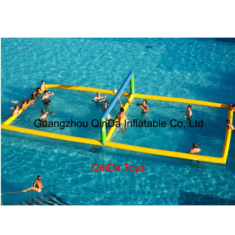 Wholesale Price 32.8ft*16.4ft inflatable water volleyball court, inflatable volleyball field for adult giant inflatable aqua sports volleyball game inflatable beach volleyball court for kids and adults