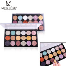 Miss Rose 18 Coolors Eyes Makeup Eye Shadow Powder Shimmer Glitter Pigments Multi-functional Shadows Highlighters