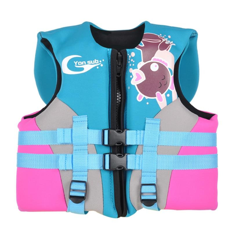 Busa jaket kadbod neoprena untuk kanak-kanak profesional kanak-kanak snorkel & renang keanggunan jaket tebal dan hangat biru penghantaran percuma