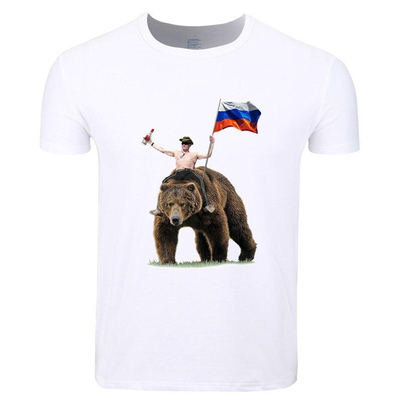 Asian Size Men And Women Print Vladimir Putin Russia President Putin CCCP T-shirt O-Neck Short Sleeves Summer Tshirt HCP4435