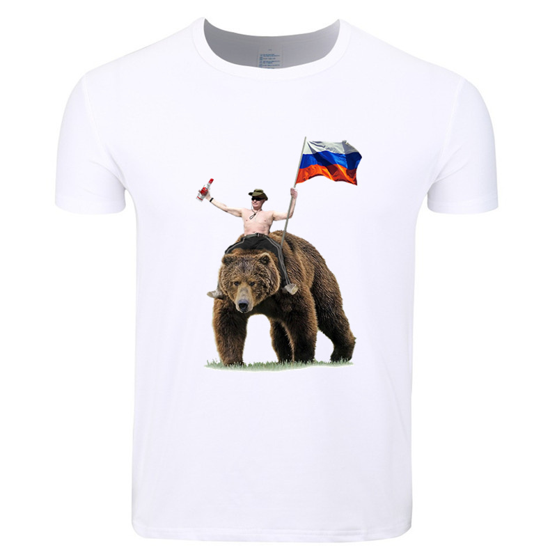 Asian Size Men And Women Print Vladimir Putin Russia President Putin CCCP   T  -  shirt   O-Neck Short Sleeves Summer Tshirt HCP4435