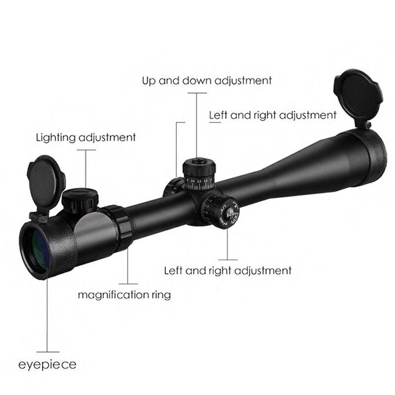 10-40x50 E longue portée lunette de visée roue latérale parallaxe optique visée fusil portée chasse portées Sniper Luneta Para fusil - 3