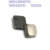 cnc cnc חותך 20PCS SEEN1203 AFTN1 NX2525 Cermet כיתה מוסיף קרביד כלים טחינה הפך טיפים להבים משעמם מתכת CNC מחרטה כלים חותך (1)