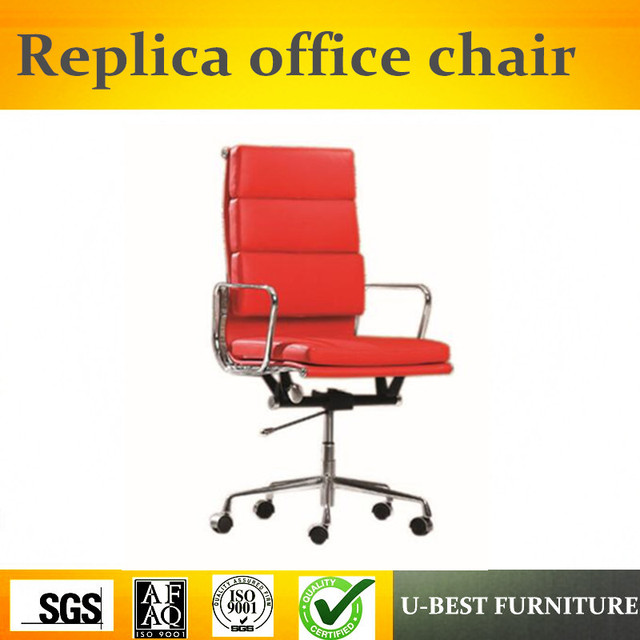 U Best High Quality Aluminum Alloy Office Chair Replica Leather Back Executive