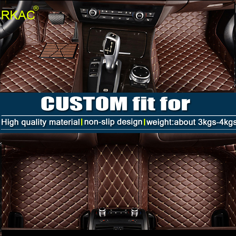 RKAC fit car floor mats for BMW X5 E70 F15 PVC Leather anti slip waterproof car styling full cover rugs custom carpet liners custom special car floor mats for kia sorento 3d case anti slip waterproof car styling carpet rugs floor liners 2002 present