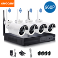 1280*960P Wireless System Network/IP Camera 4CH 960P HD WIFI NVR AUTO-PAIR Wireless CCTV Surveillance Systems Home Security