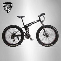 LAUXJACK 26 4 0 Mountain Bike Bicycle Dual Disc Brakes 24 Snowmobile Speed Bike Wide Wheeled