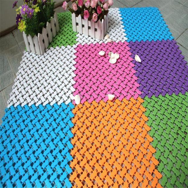 Neue Abnehmbare Bad Rutschfeste Pad PVC Badematte Dusche Badewanne Bade Teppich  Badezimmer Mosaik Splice Puzzle Pad