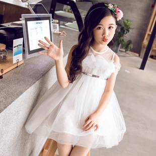Retail Summer New Girl Lace Dress Gauze Princess Vest Dress Girl Party Sundress Layered Dress Children Clothing 2-12 Years CA003 new the spring of 2018 women s clothing sequins lapel eagle decals gauze falbala vest dress