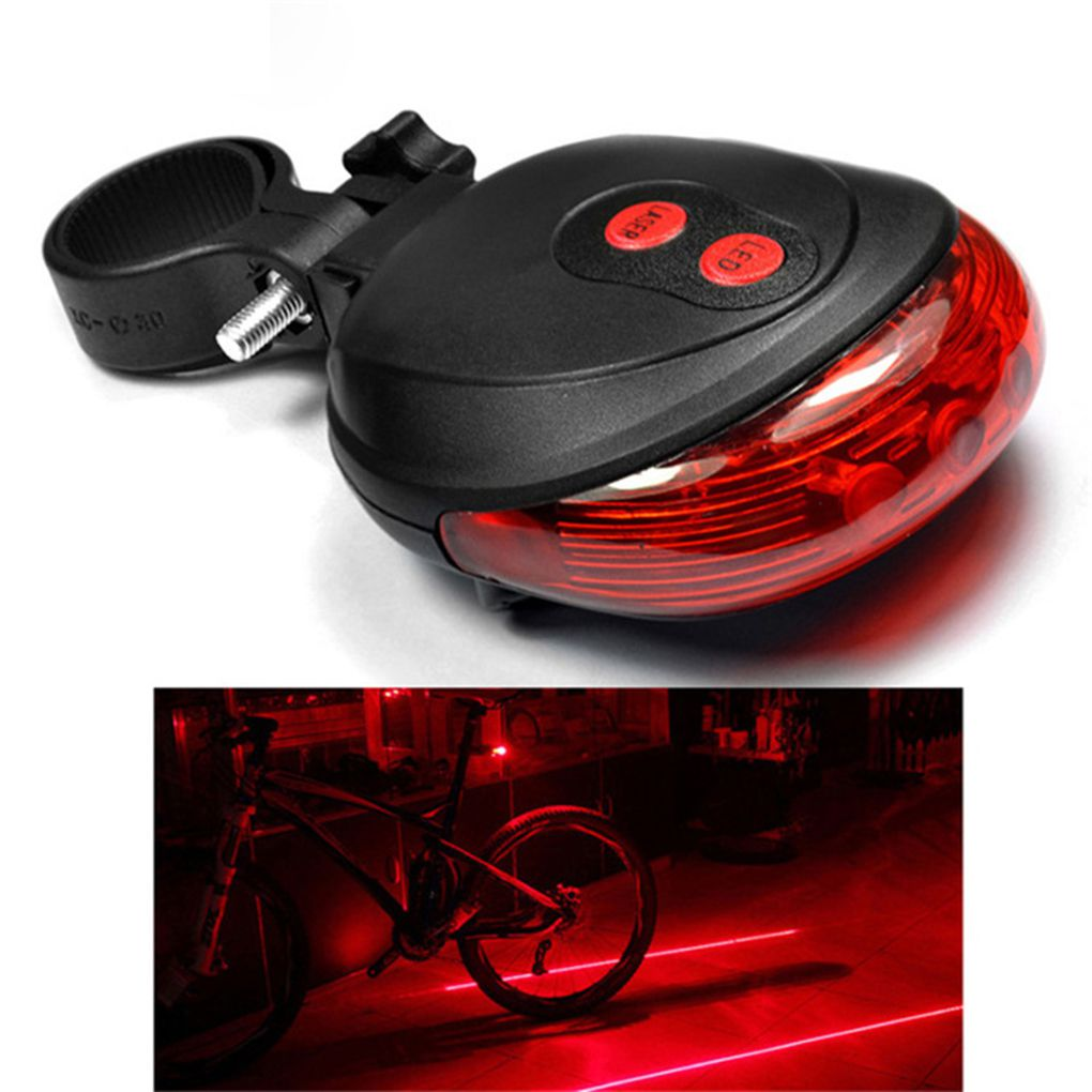 Hot Sale Novelty Lighting Bicycle LED Taillight Safety Warning Light 5 LED+2 Laser Night  For Mountain Bike