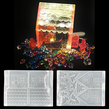New  DIY Silicone Christmas House Castle Mold Epoxy Resin Jewelry Making Tool Set