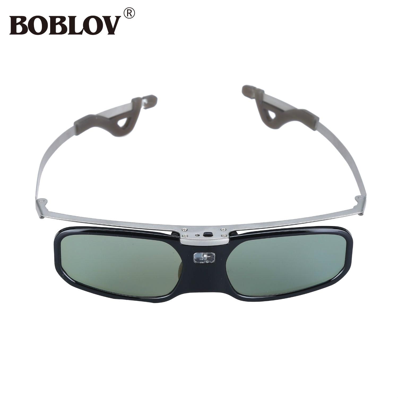 BOBLOV RX-30S 96-144HZ Rechargeable 3D Active Shutter <font><b>Glasses</b></font> <font><b>For</b></font> <font><b>Panasonic</b></font> Samsung Optoma Sharp BenQ 3D DLP-Link <font><b>Projector</b></font>