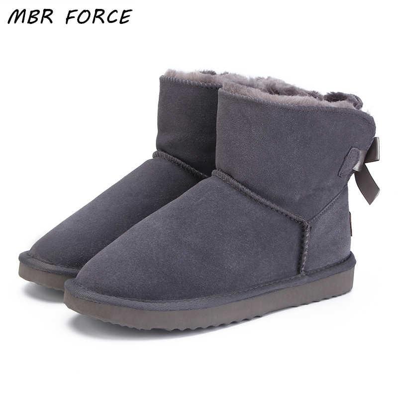 07206e5a4811 Модные женские теплые зимние ботинки зимние сапоги из натуральной коровьей  ...
