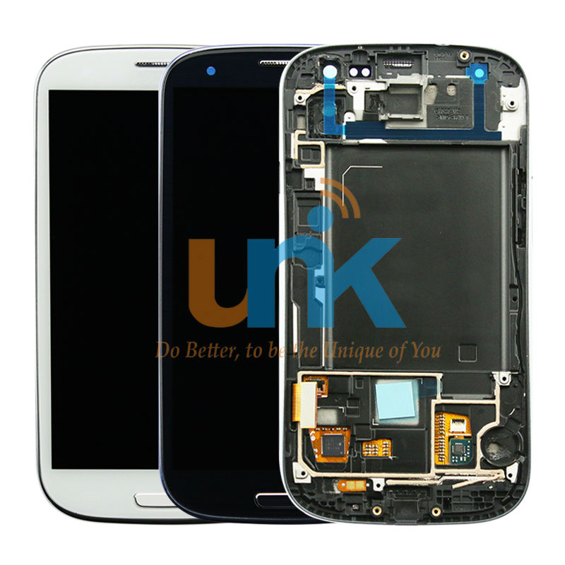 original LCD display+Touch Screen+Digitizer full assembly repair part+frame+home button for samsung Galaxy S3 i9300 i9305 lcd