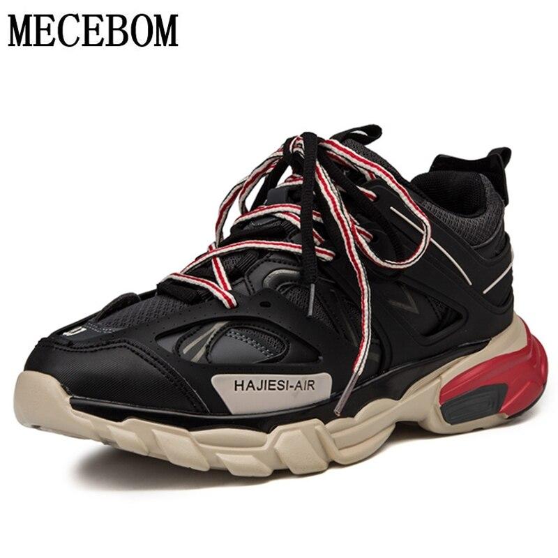 Homme rétro Chunky papa baskets noir semelle épaisse chaussures pour homme confortable hommes chaussures décontractées baskets 6 couleur size39-45 f629m