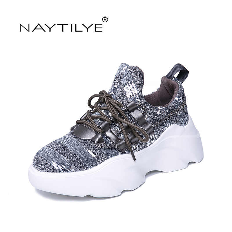 NAYTILYT Women's Flats 2019 New Casual Lace-Up Round Toe Comfortable and Breathable Spring/Autumn woman shoes 35-40