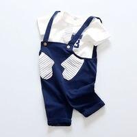 Baby Boy Одежда Набор Лето Девушки Детей Одежда Набор Хлопок Новорожденных Мода Карманные Письмо Унисекс Круто Мальчик 2 Шт. Топы + брюки