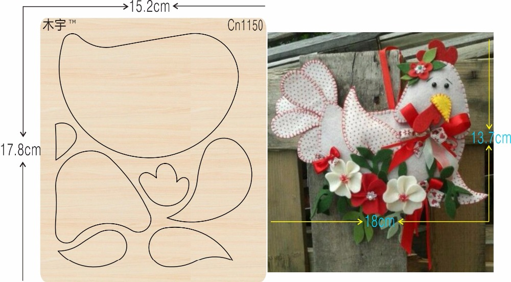 Cock Decorations New Wooden Mould Cutting Dies For Scrapbooking Thickness-15.8mm
