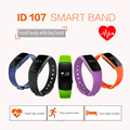 Pulseira Original ID107 Smartwatch Relógio Inteligente Bluetooth 4.0 Heart Rate Monitor Esporte Academia Esporte Rastreador Pulseira banda Inteligente