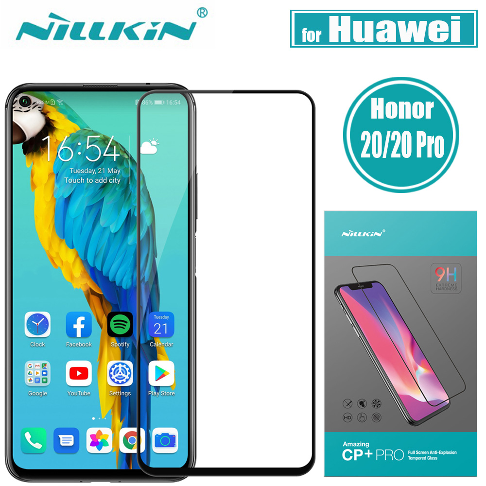 Huawei Honor 20 Pro Tempered Glass Screen Protector Nillkin CP+Pro Full Cover Glass Film for Huawei Honor 20 20S Nova 5T|Phone Screen Protectors| |  - title=