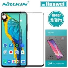 Protector de pantalla de vidrio templado para Huawei Honor 20 Pro, Nillkin CP + Pro, película de vidrio de cobertura completa para Huawei Honor 20 20S Nova 5T