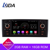 LJDA Android 9.1 Car DVD Player For Fiat Grande Punto Linea 2007 2008 2009 2010 2011 2012 Multimedia Stereo GPS 1 Din Car Radio