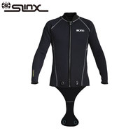 SLINX Men Diving Jacket 3mm Neoprene thick Wetsuits Keep Warm Long Sleeve Crotch Jacket for Snorkeling Spearfishing Surfing
