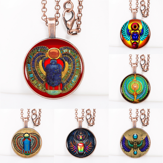 Symbol Of Strength Egyptian Scarab Necklace Ancient Egypt Jewelry