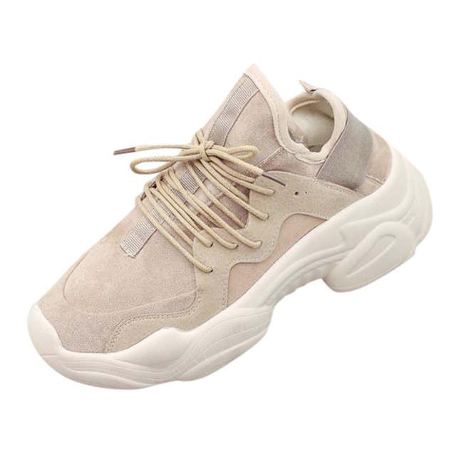 US $10.86 40% OFF SAGACE 2019 kobiet buty moda marka Retro platformy buty damskie swobodna koronka Up oddychające sportowe adidasy do biegania May9 w