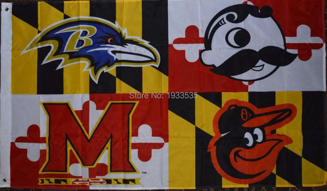 Baltimore ravens orioles maryland state terrapins natty boh one sided 3x5 banner