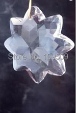 Free Shipping,Star Chandelier Crystal Clear 38mm ONE HOLE Beads Prisms 30 pc