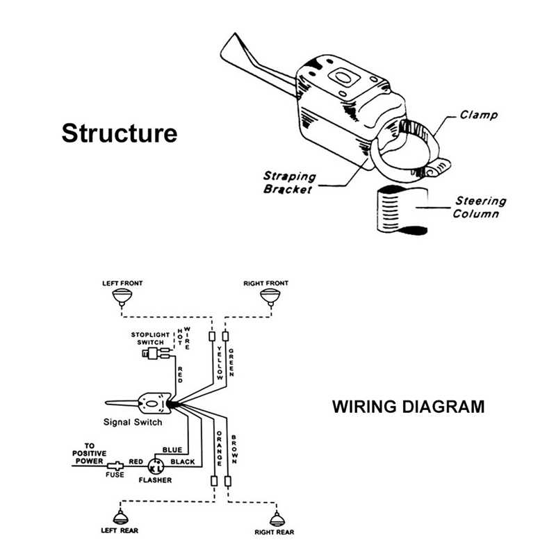 universal signal switch wiring diagram 12v universal street hot rod chrome turn signal switch for ford  12v universal street hot rod chrome