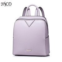 Women Split Leather Backpack Fashion Elegant Leather Travel Brief Female Backpack Ladies Daypack School Shoulder Top