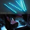 Envío libre brillante Estupendo Del Coche LLEVÓ la iluminación de la Decoración Interior 4*9 LEDs 5050 chip 4 En 1 12 V Lámpara Decorativa de La Atmósfera cargo
