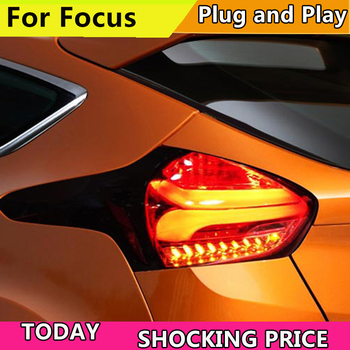 doxa Car Tail Light For Ford Focus Hatch-back Taillights 2015- 2018 All LED Tail Lamp Rear Lamp DRL+Brake+Park+Signal light back