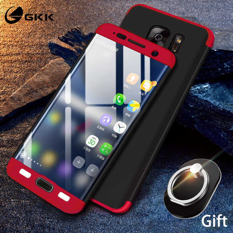 online store b70a4 e8fa3 GKK 3 in 1 Case for Samsung Galaxy S7 Edge Case 360 Full Protection  Shockproof Matte Hard for Samsung S7 S7edge Cover Free Gift