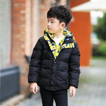 New autumn winter boy clothes fashion children down jacket kids warm hooded coat boys outerwear