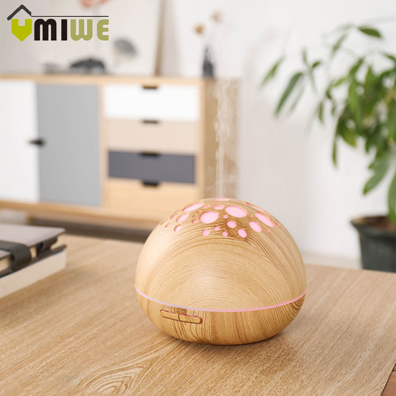 Aroma Essential Oil Diffuser 300ml Wood Grain Ultrasonic Cool Mist Large Air Humidifier Purifier with LED Night Light for HomeAroma Essential Oil Diffuser 300ml Wood Grain Ultrasonic Cool Mist Large Air Humidifier Purifier with LED Night Light for Home